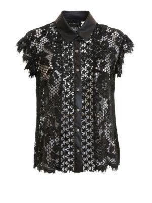 JOHN RICHMOND: camicie - Camicia see-through in pizzo