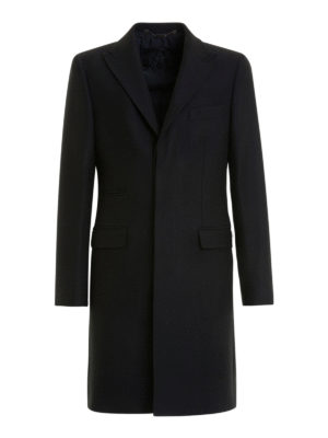John Richmond: short coats - Black wool single-breasted coat