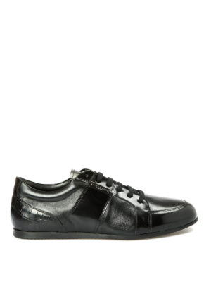 John Richmond: trainers - Croco print detail leather sneakers