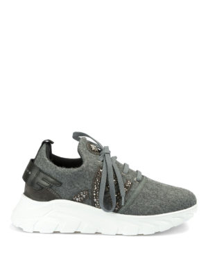 JOHN RICHMOND: sneakers - Runner in tessuto con strass
