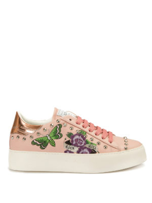 John Richmond: trainers - Embroidered and studded sneakers