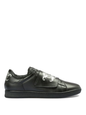 JOHN RICHMOND: sneakers - Slip-on in pelle con stampe logo