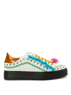 John Richmond: trainers - Multicolour embellished sneakers