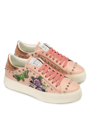 John Richmond: trainers online - Embroidered and studded sneakers