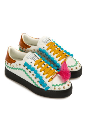 John Richmond: trainers online - Multicolour embellished sneakers