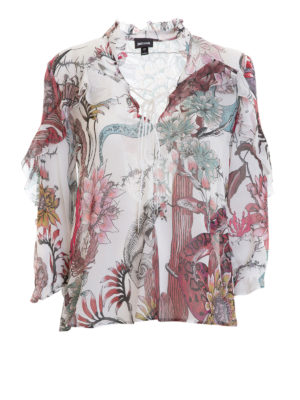 Just Cavalli: blouses - Frilled patterned blouse