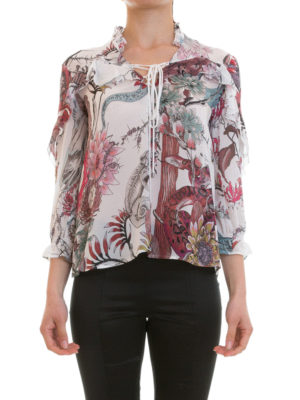 Just Cavalli: blouses online - Frilled patterned blouse