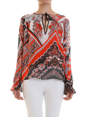 Just Cavalli: blouses online - Paisley patterned crepe blouse