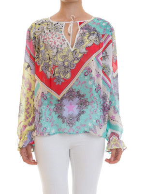 Just Cavalli: blouses online - Patterned crepe blouse