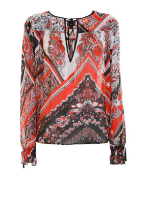 Just Cavalli: blouses - Paisley patterned crepe blouse