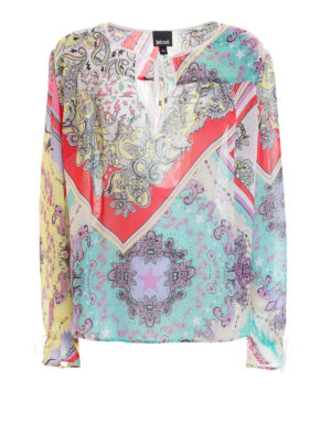 Just Cavalli: blouses - Patterned crepe blouse
