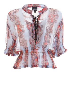 Just Cavalli: blouses - Patterned cropped blouse