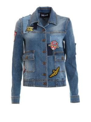 Just Cavalli: denim jacket - Patch detailed denim jacket