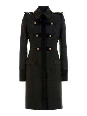 Just Cavalli: knee length coats - Army style gold button coat
