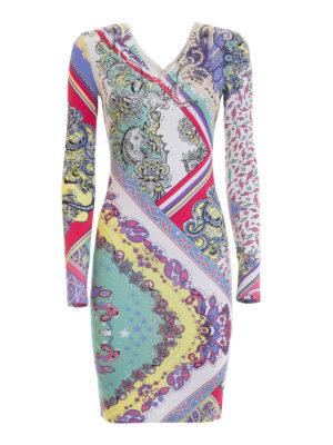 Just Cavalli: knee length dresses - Rhinestone-embellished jersey dress