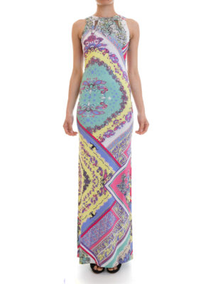 Just Cavalli: maxi dresses online - Embellished jersey long dress