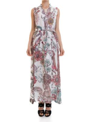 Just Cavalli: maxi dresses online - Ruched waist crepe dress