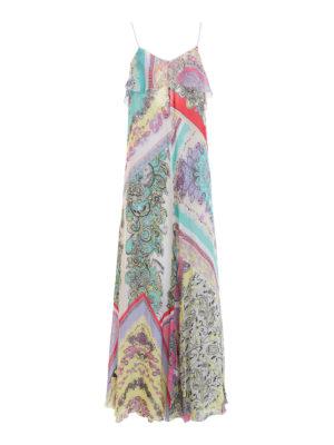 Just Cavalli: maxi dresses - Patterned silk crepe long dress