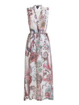 Just Cavalli: maxi dresses - Ruched waist crepe dress
