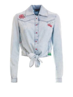 Just Cavalli: shirts - Embroidered denim shirt