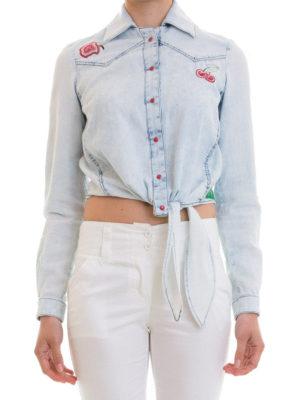 Just Cavalli: shirts online - Embroidered denim shirt