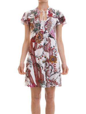 Just Cavalli: short dresses online - Patterned crepe flared dress