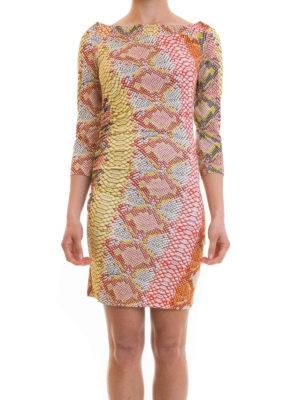 Just Cavalli: short dresses online - Python print jersey dress