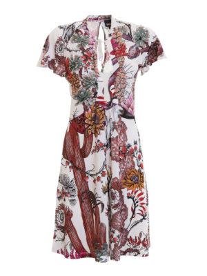 Just Cavalli: short dresses - Patterned crepe flared dress