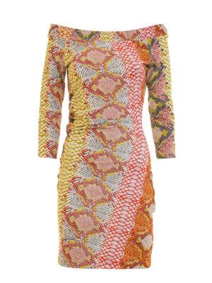 Just Cavalli: short dresses - Python print jersey dress
