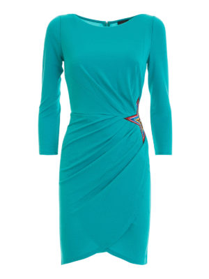 Just Cavalli: short dresses - Star applique draped dress