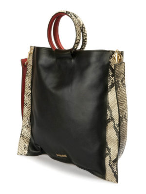 Just Cavalli: shoulder bags online - Python details bag