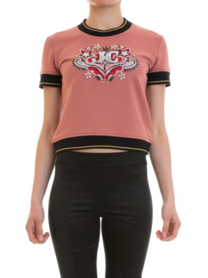 Just Cavalli: Sweatshirts & Sweaters online - Embroidered short sleeve sweatshirt