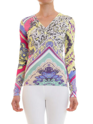 Just Cavalli: t-shirts online - Rhinestone-embellished jersey Tee