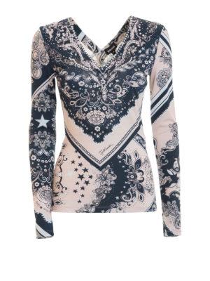 Just Cavalli: t-shirts - Rhinestone-embellished jersey Tee