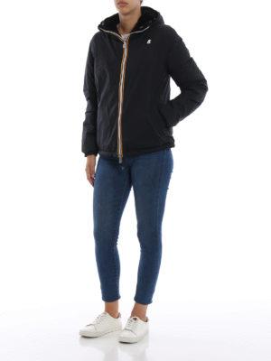K-WAY: giacche imbottite online - Giacca double Marguerite imbottita in velluto