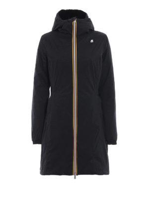 K-WAY: cappotti imbottiti - Piumino double Charlene in velluto e nylon