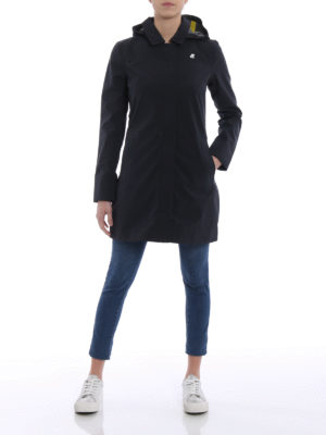 k-way: trench coats online - Mathilde Bonded Jersey raincoat