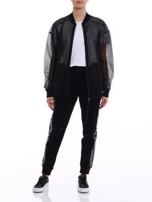 Karl Lagerfeld: bombers online - Sheer technical fabric bomber