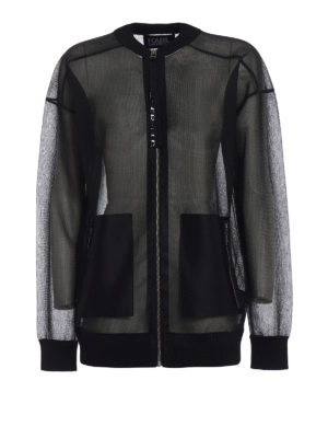 Karl Lagerfeld: bombers - Sheer technical fabric bomber