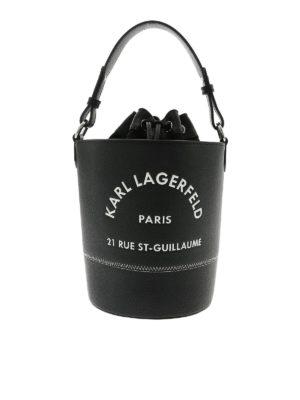 KARL LAGERFELD: Bucket bags - Rue St Guillaume bag in black
