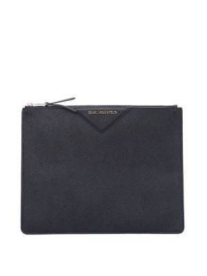 Karl Lagerfeld: Cases & Covers - Metallic saffiano leather pouch