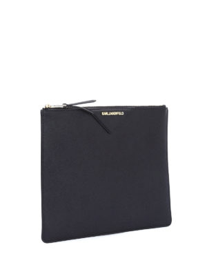 Karl Lagerfeld: Cases & Covers online - Metallic saffiano leather pouch