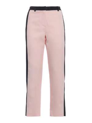 Karl Lagerfeld: casual trousers - Satin bands wool trousers