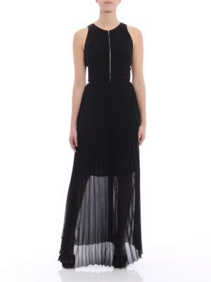 Karl Lagerfeld: evening dresses online - Pleated skirt cady long dress