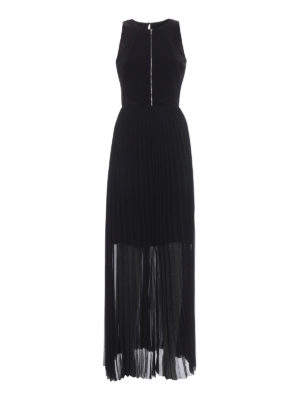 Karl Lagerfeld: evening dresses - Pleated skirt cady long dress