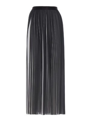 Karl Lagerfeld: Long skirts - Optical effect pleated maxi skirt