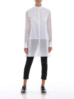 KARL LAGERFELD: camicie online - Camicia lunga in popeline e georgette