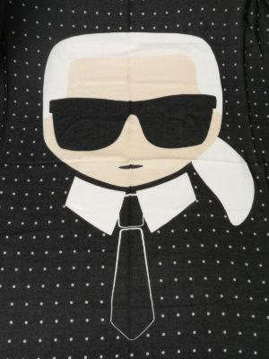 Karl Lagerfeld: scarves online - K/Ikonik dotted silk blend scarf