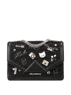 Karl Lagerfeld: shoulder bags - K/Klassic embellished shoulder bag