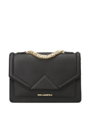 Karl Lagerfeld: shoulder bags - K/Klassic saffiano shoulder bag